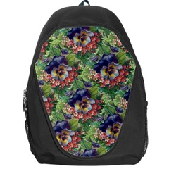 Background Square Flower Vintage Backpack Bag