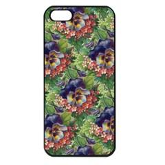 Background Square Flower Vintage Apple Iphone 5 Seamless Case (black)