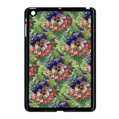 Background Square Flower Vintage Apple Ipad Mini Case (black)