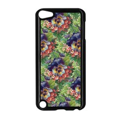 Background Square Flower Vintage Apple Ipod Touch 5 Case (black)