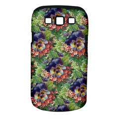 Background Square Flower Vintage Samsung Galaxy S Iii Classic Hardshell Case (pc+silicone)