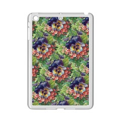 Background Square Flower Vintage Ipad Mini 2 Enamel Coated Cases