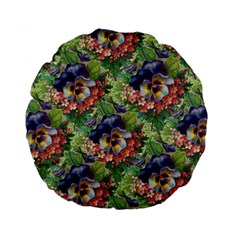 Background Square Flower Vintage Standard 15  Premium Round Cushions
