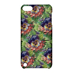 Background Square Flower Vintage Apple Ipod Touch 5 Hardshell Case With Stand