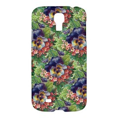 Background Square Flower Vintage Samsung Galaxy S4 I9500/i9505 Hardshell Case