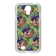 Background Square Flower Vintage Samsung Galaxy S4 I9500/ I9505 Case (white)