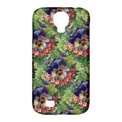 Background Square Flower Vintage Samsung Galaxy S4 Classic Hardshell Case (pc+silicone)