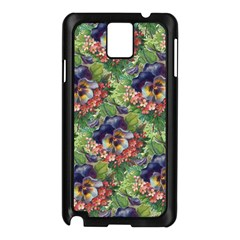 Background Square Flower Vintage Samsung Galaxy Note 3 N9005 Case (black)