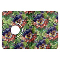 Background Square Flower Vintage Kindle Fire Hdx Flip 360 Case