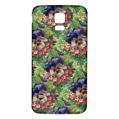 Background Square Flower Vintage Samsung Galaxy S5 Back Case (white)