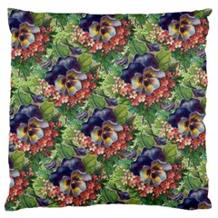 Background Square Flower Vintage Large Flano Cushion Case (two Sides)
