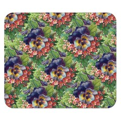 Background Square Flower Vintage Double Sided Flano Blanket (small)