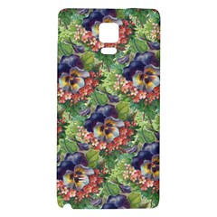 Background Square Flower Vintage Galaxy Note 4 Back Case