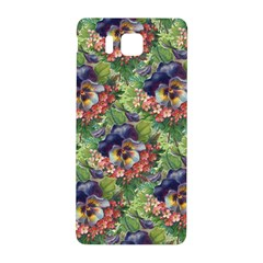 Background Square Flower Vintage Samsung Galaxy Alpha Hardshell Back Case
