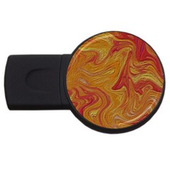 Texture Pattern Abstract Art Usb Flash Drive Round (2 Gb)