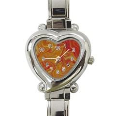 Texture Pattern Abstract Art Heart Italian Charm Watch