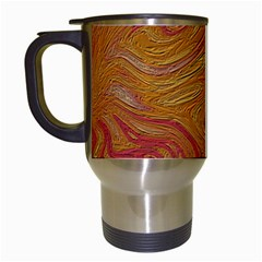 Texture Pattern Abstract Art Travel Mugs (white)