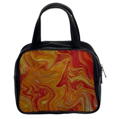 Texture Pattern Abstract Art Classic Handbags (2 Sides)