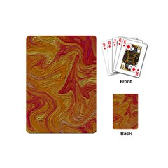 Texture Pattern Abstract Art Playing Cards (mini)