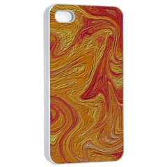 Texture Pattern Abstract Art Apple Iphone 4/4s Seamless Case (white)