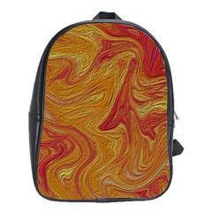 Texture Pattern Abstract Art School Bag (xl)