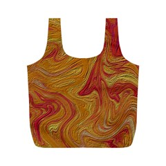 Texture Pattern Abstract Art Full Print Recycle Bags (m)