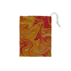 Texture Pattern Abstract Art Drawstring Pouches (small)