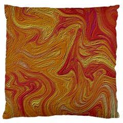 Texture Pattern Abstract Art Large Flano Cushion Case (one Side)