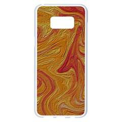 Texture Pattern Abstract Art Samsung Galaxy S8 Plus White Seamless Case by Nexatart