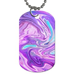 Abstract Art Texture Form Pattern Dog Tag (two Sides)