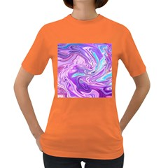 Abstract Art Texture Form Pattern Women s Dark T Shirt