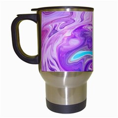 Abstract Art Texture Form Pattern Travel Mugs (white)