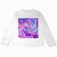 Abstract Art Texture Form Pattern Kids Long Sleeve T Shirts