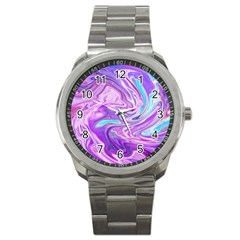 Abstract Art Texture Form Pattern Sport Metal Watch by Nexatart