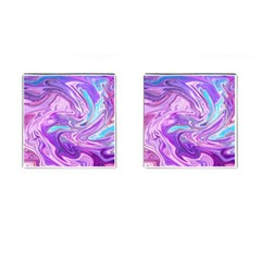 Abstract Art Texture Form Pattern Cufflinks (square)