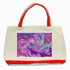 Abstract Art Texture Form Pattern Classic Tote Bag (red)