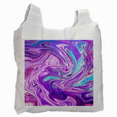 Abstract Art Texture Form Pattern Recycle Bag (one Side)