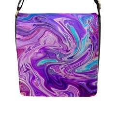 Abstract Art Texture Form Pattern Flap Messenger Bag (l)
