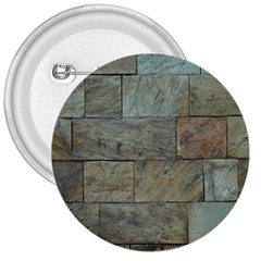 Wall Stone Granite Brick Solid 3  Buttons by Nexatart