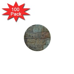 Wall Stone Granite Brick Solid 1  Mini Buttons (100 Pack)