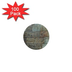 Wall Stone Granite Brick Solid 1  Mini Magnets (100 Pack)