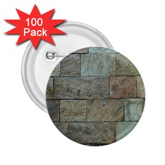 Wall Stone Granite Brick Solid 2 25  Buttons (100 Pack)