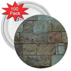 Wall Stone Granite Brick Solid 3  Buttons (100 Pack)