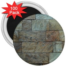 Wall Stone Granite Brick Solid 3  Magnets (100 Pack)