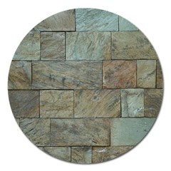 Wall Stone Granite Brick Solid Magnet 5  (round)