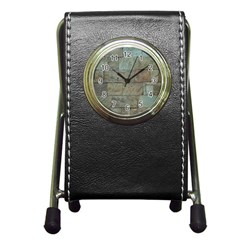 Wall Stone Granite Brick Solid Pen Holder Desk Clocks