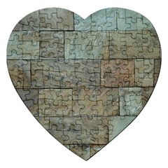 Wall Stone Granite Brick Solid Jigsaw Puzzle (heart) by Nexatart