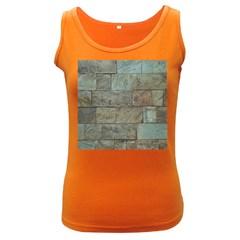 Wall Stone Granite Brick Solid Women s Dark Tank Top