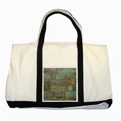 Wall Stone Granite Brick Solid Two Tone Tote Bag by Nexatart