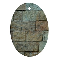 Wall Stone Granite Brick Solid Oval Ornament (two Sides)